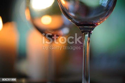 Wine glasses close-up
