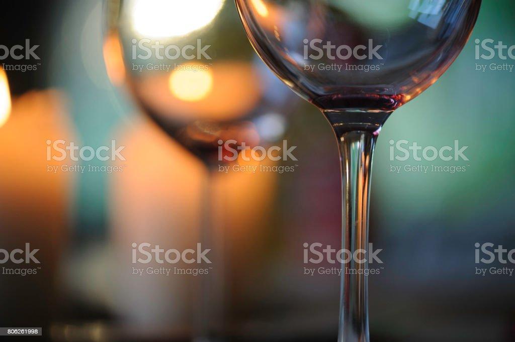 Wine glasses close-up stock photo