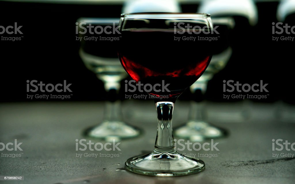 wine glasses in colors royalty-free stock photo