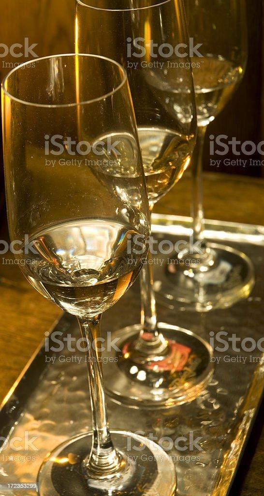 Wine Glasses In Elegant Restaurant Setting royalty-free stock photo