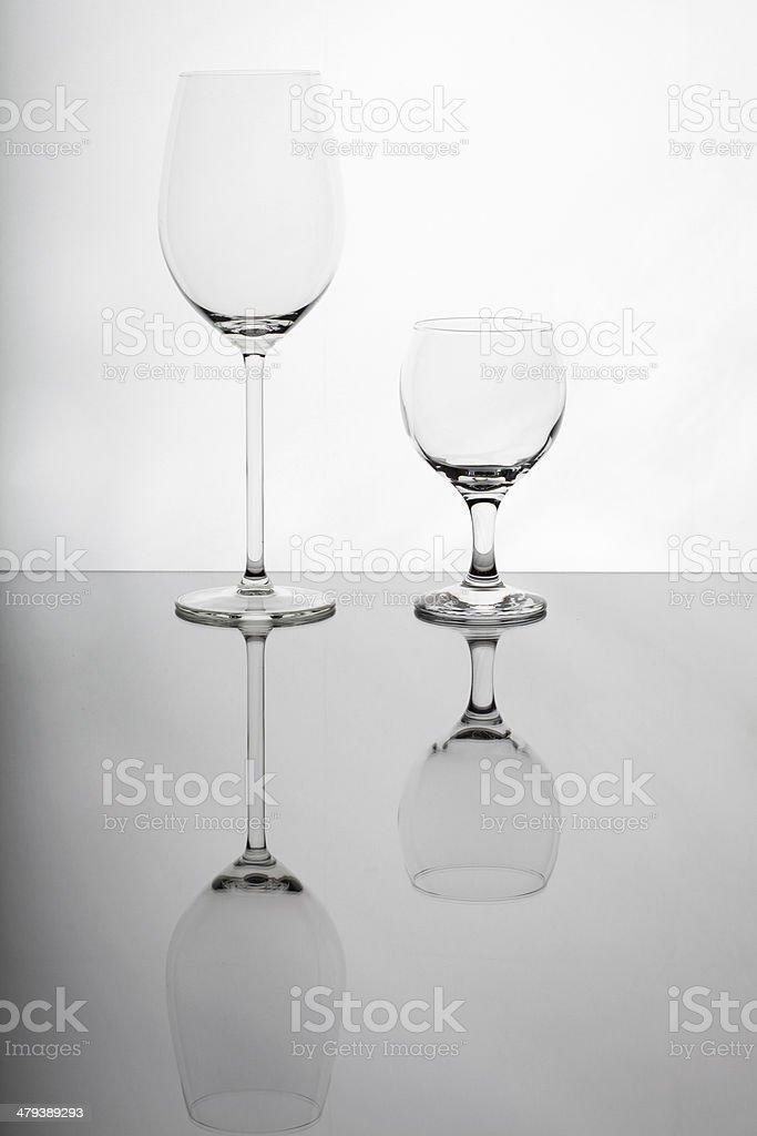 Wine glasses on isolated background royalty-free stock photo