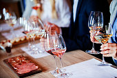 istock Wine glasses on the table 1004534168