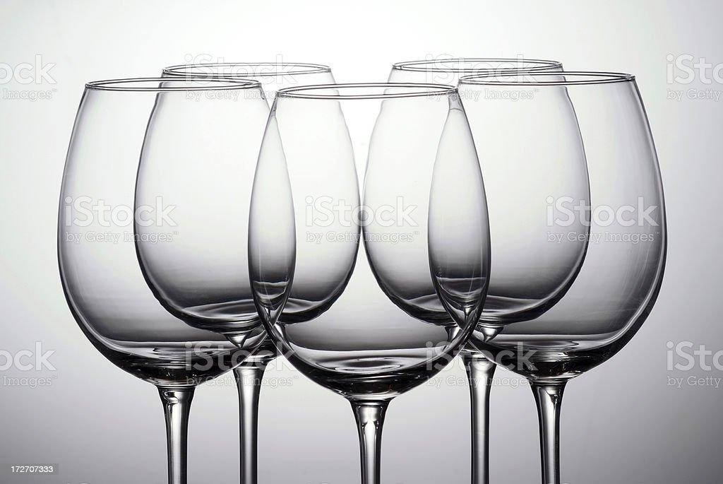 Wine Glasses royalty-free stock photo