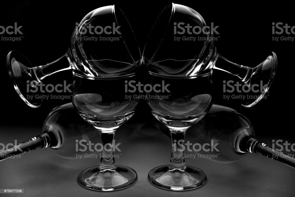 wine glasses foto de stock royalty-free