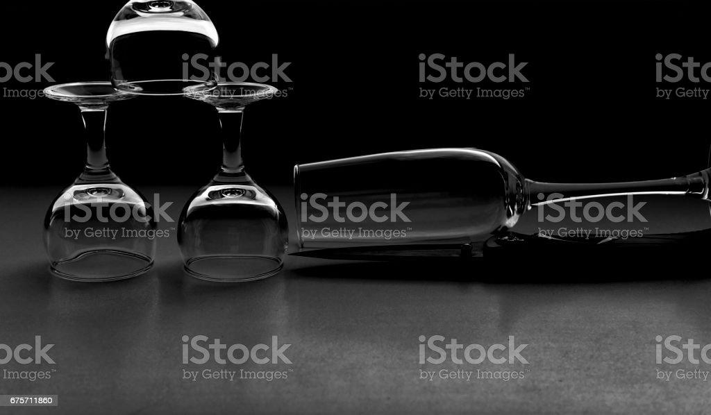 wine glasses 免版稅 stock photo