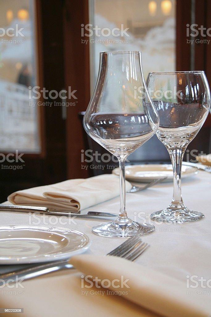 wine glasses stock photo