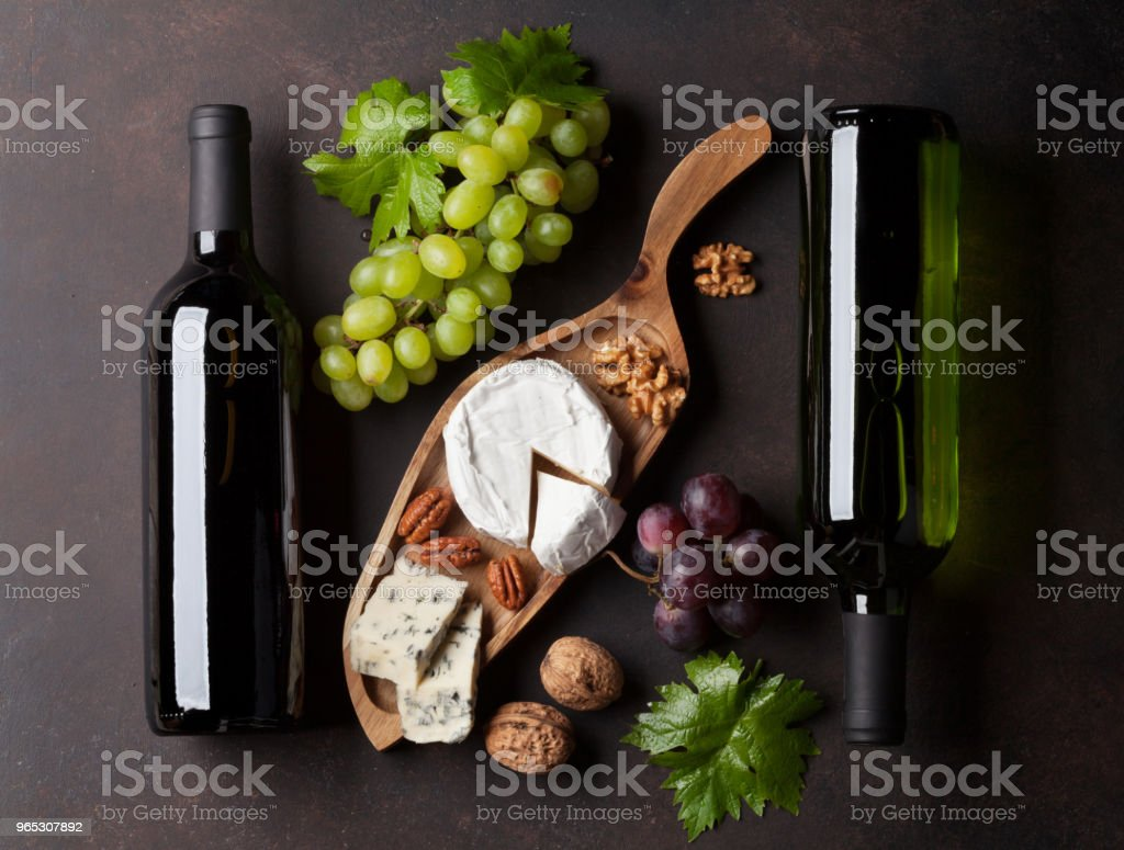 Wine, grape and cheese royalty-free stock photo