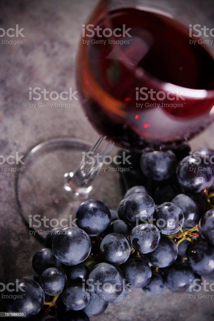 Wine & Grapes royalty-free stock photo