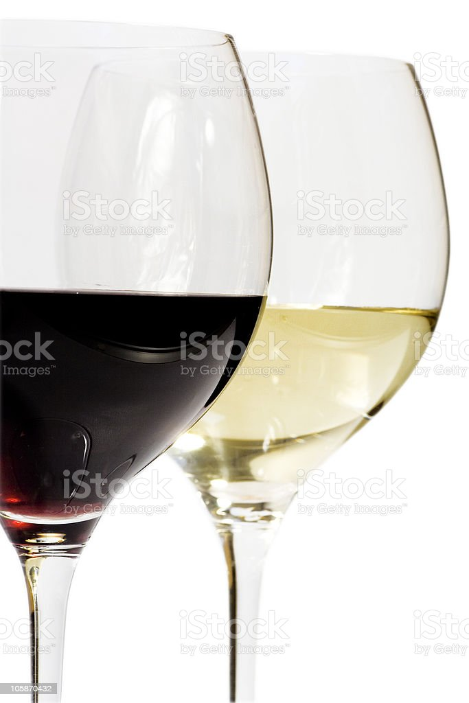 wine in glasses royalty-free stock photo