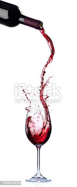 Wine List Design - Motion And Splashing In Wineglass