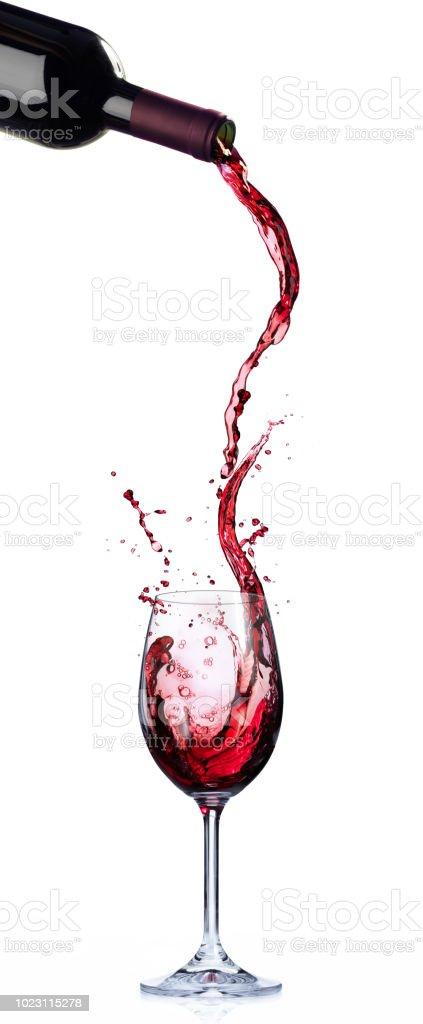 Wein In Bewegung und Planschen im Weinglas – Foto