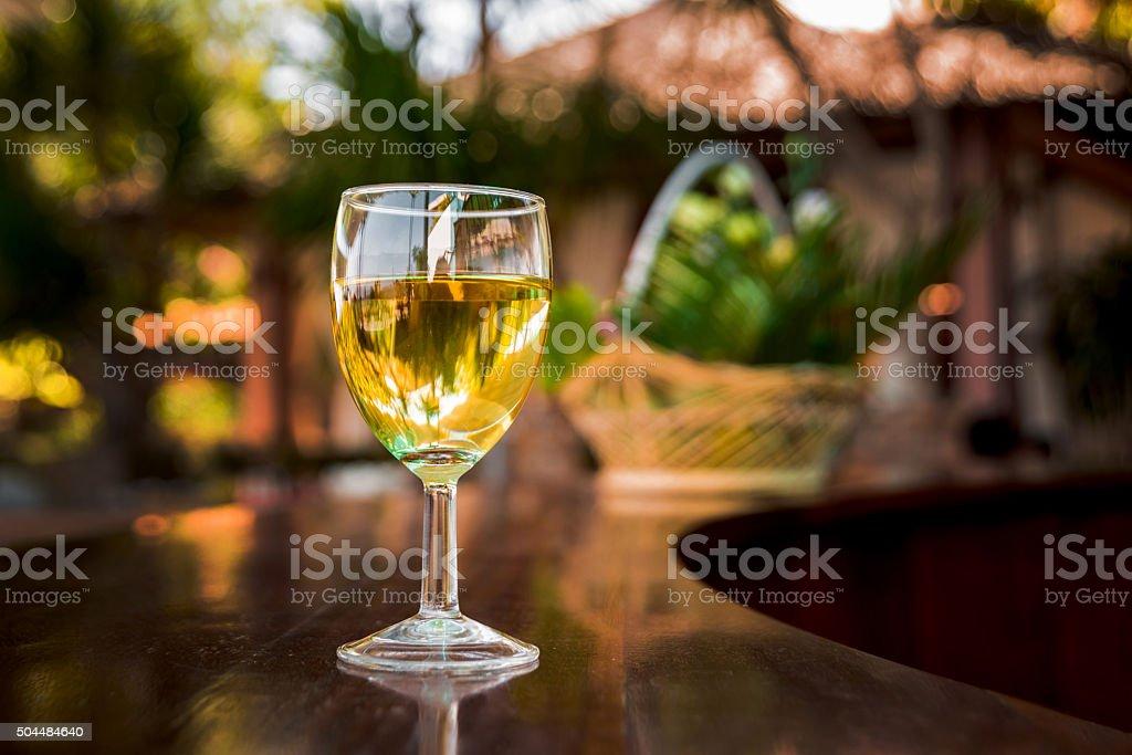 Wine in the glasses stock photo