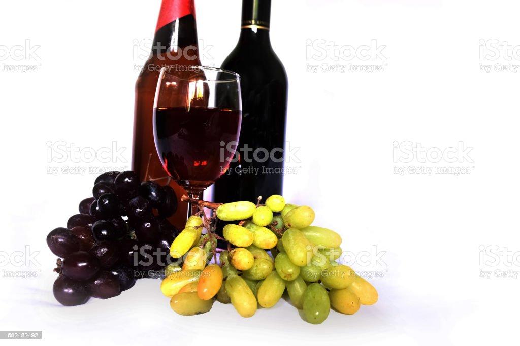Wine isolated royalty-free stock photo