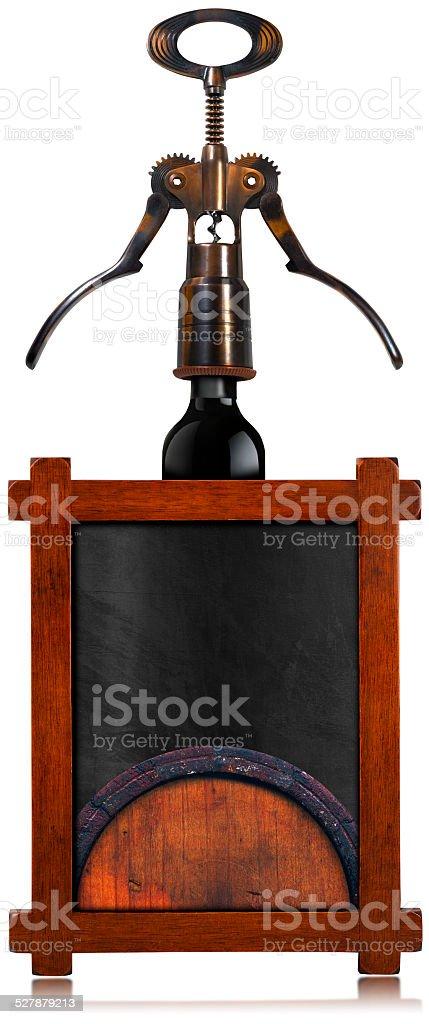 Wine List Empty Blackboard stock photo