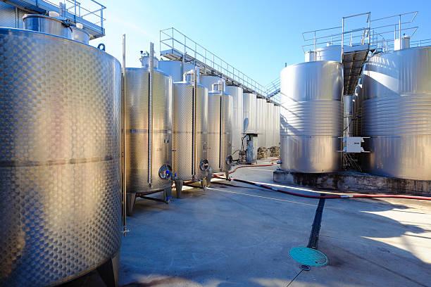 Wine making industry stock photo