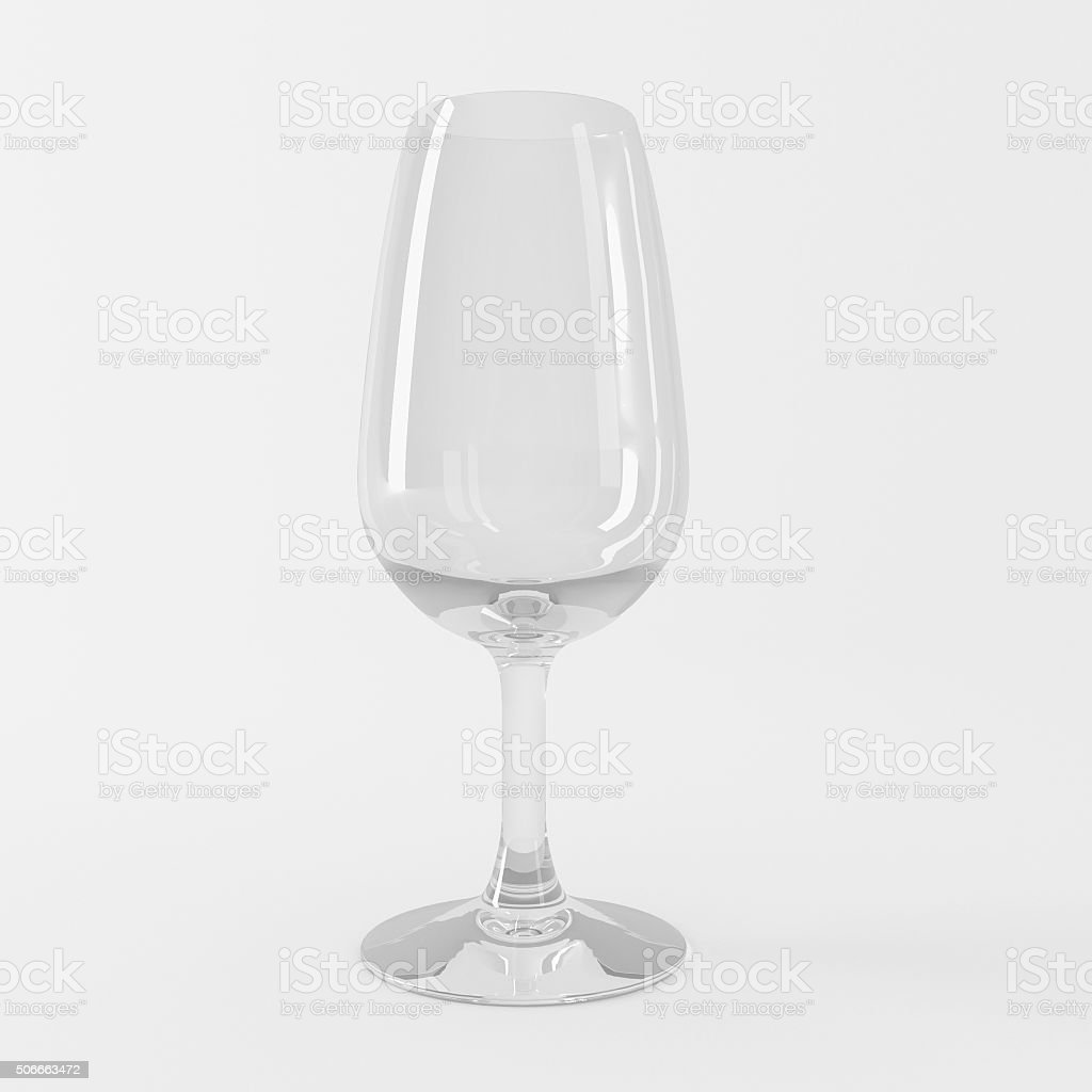 wine or drinks glass with clipping path stock photo