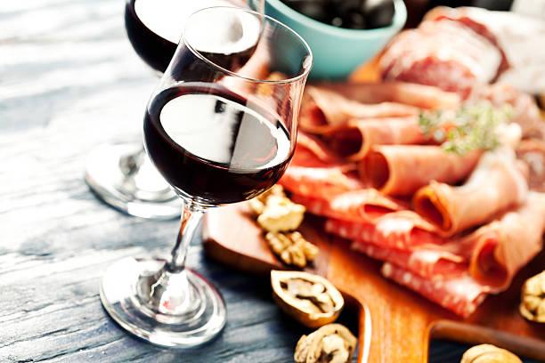Wine party stock photo