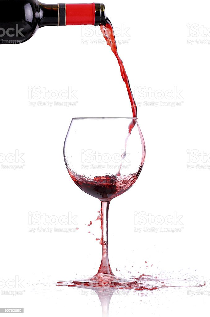 wine pouring royalty-free stock photo