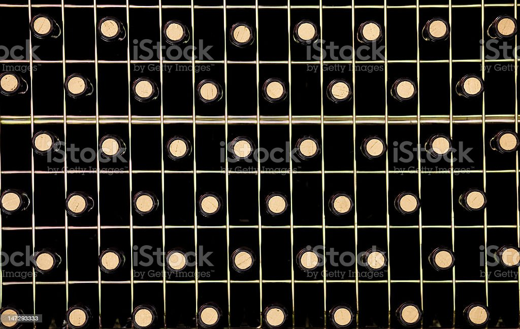 Wine rack stock photo