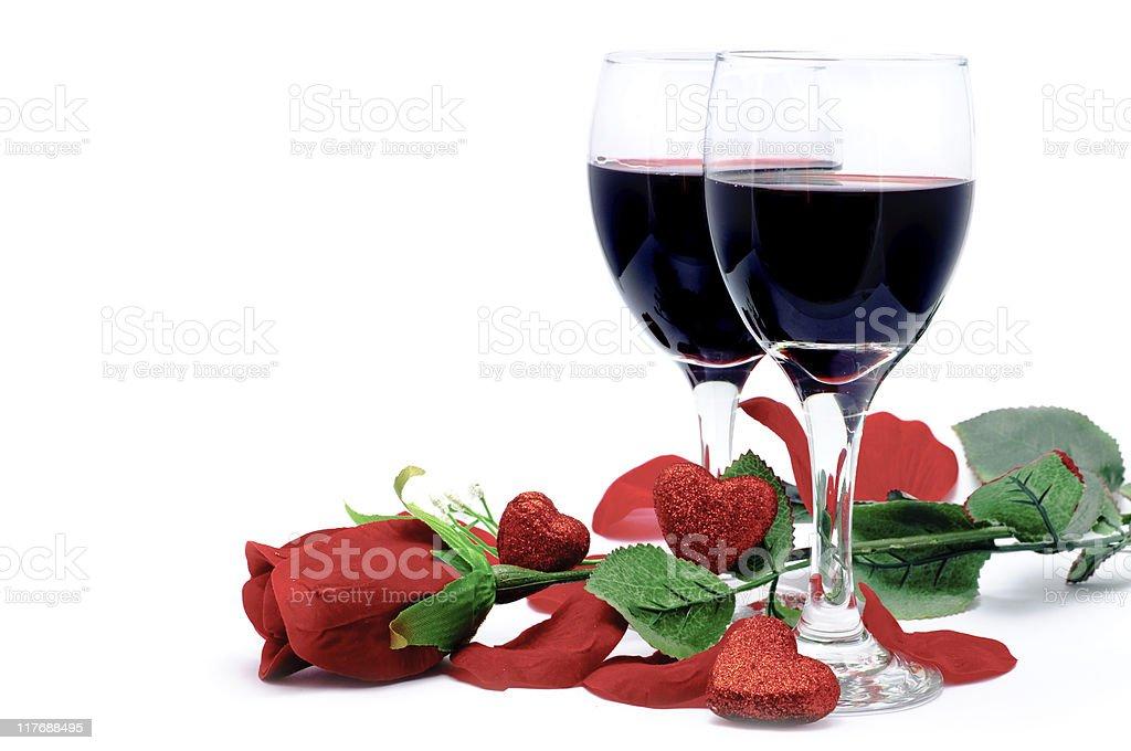 Wine, Rose & Hearts