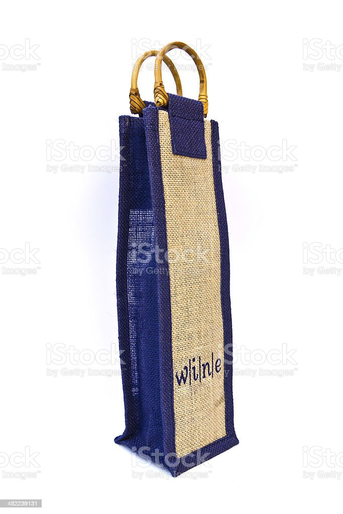 wine sack bag isolated royalty-free stock photo