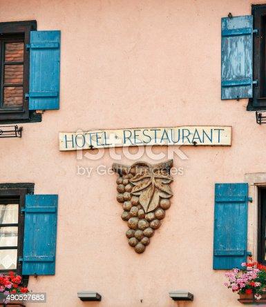 istock Wine serving restaurnat facade 490527683