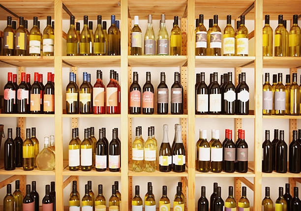 Wine Shelves stock photo