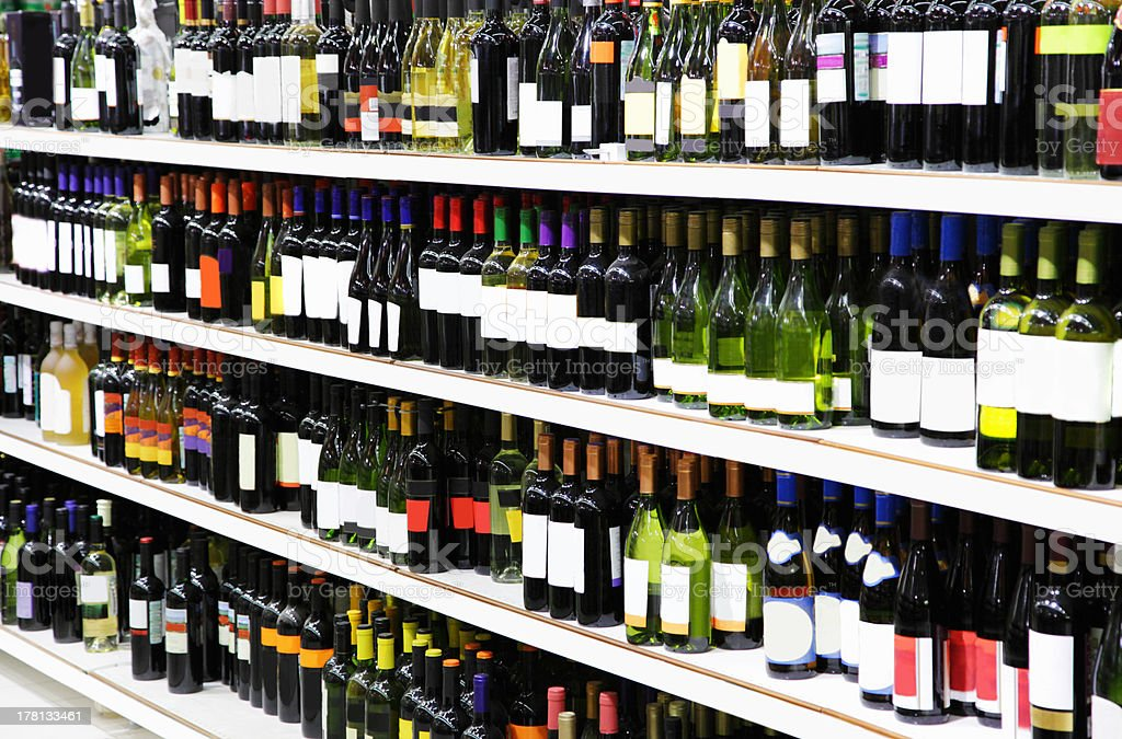 Wine shop royalty-free stock photo