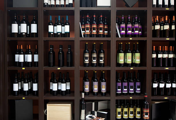 Wine shop. stock photo