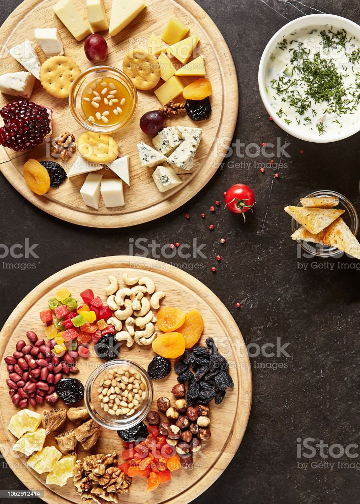 Wine Snack Mix With Cheese Plate And Nuts Dish Stock Photo Download Image Now Istock