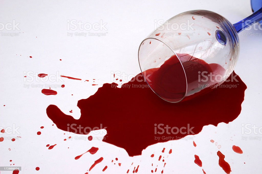 wine spill royalty-free stock photo