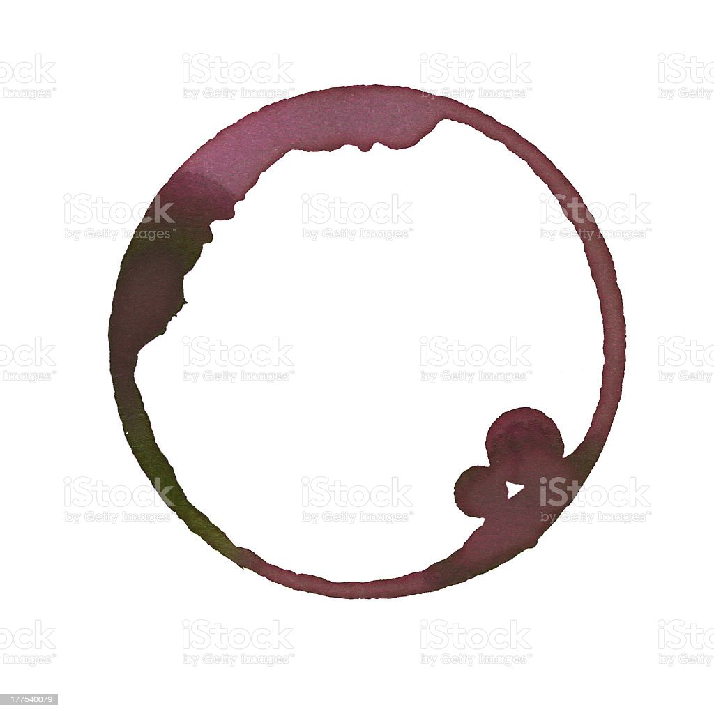 Wine Stain royalty-free stock photo