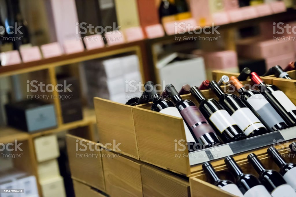 Wine store royalty-free stock photo
