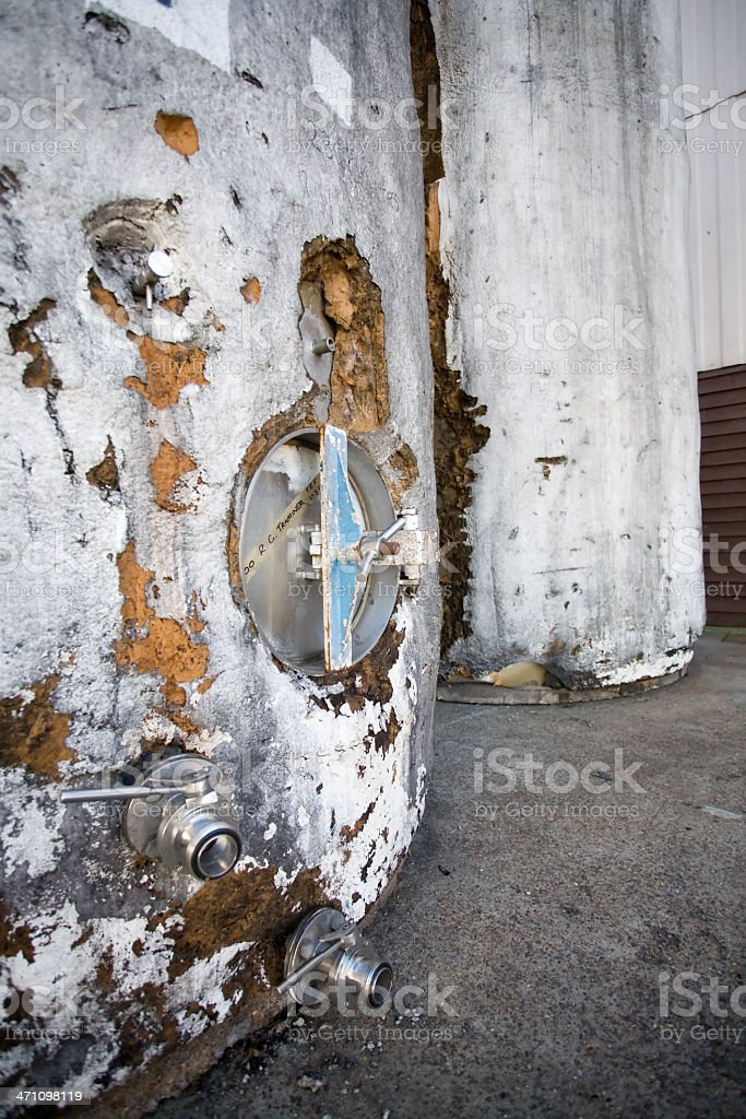 wine tanks royalty-free stock photo