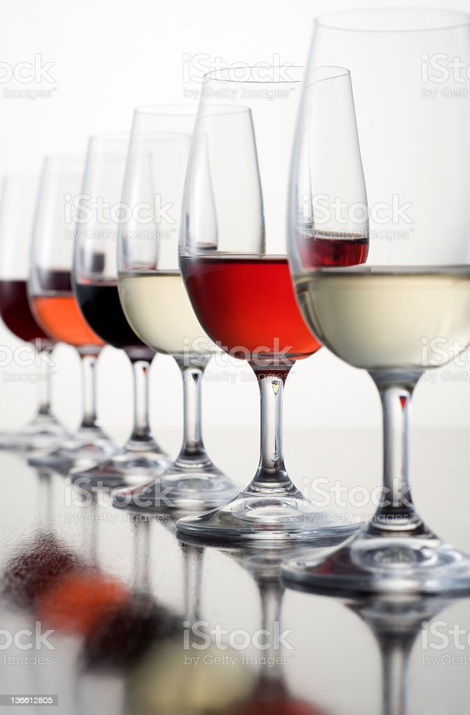 Wine Tasting Glasses royalty-free stock photo