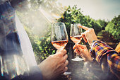 istock Wine tasting in the countryside 1180106421