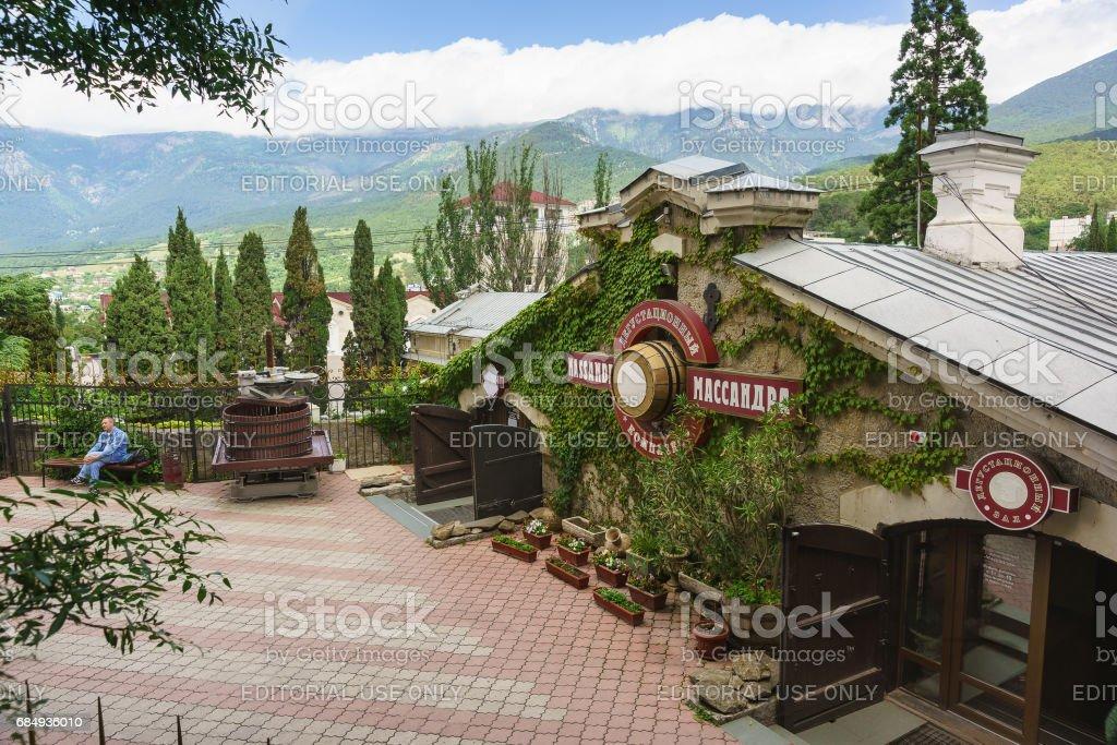 YALTA, CRIMEA, RUSSIA - JUNE 07.2016: wine Tasting of the Massandra winery. Yalta, Crimea, Russia stock photo