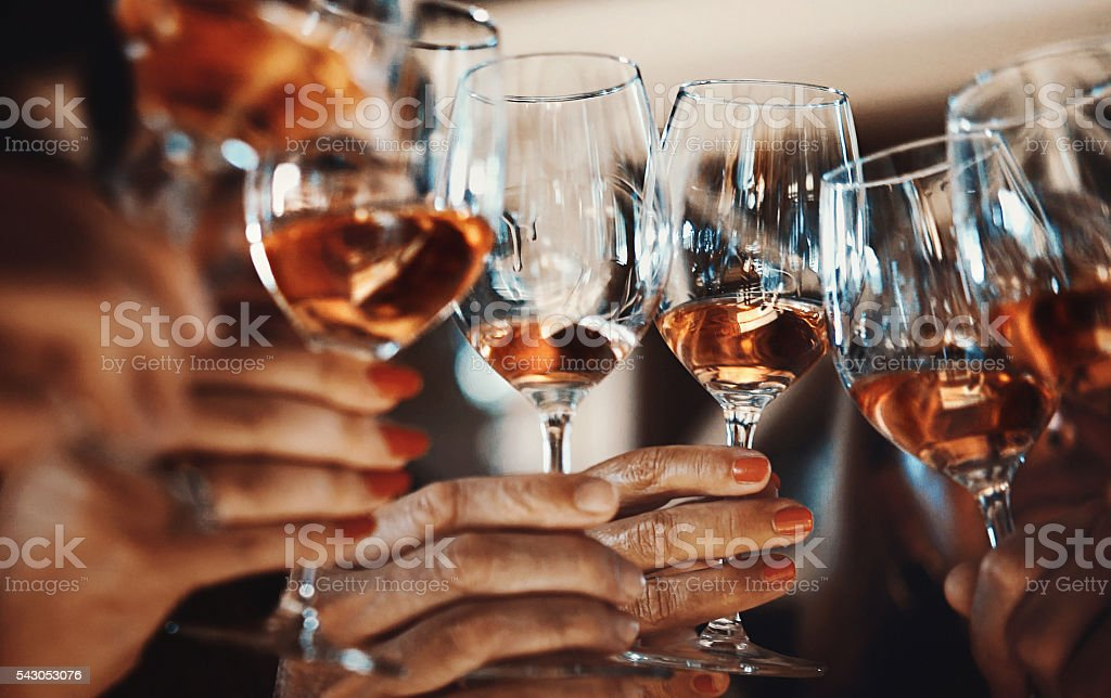 Degustación de vinos. - foto de stock