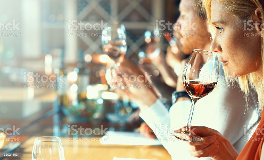 Degustazione di vini.   - foto stock