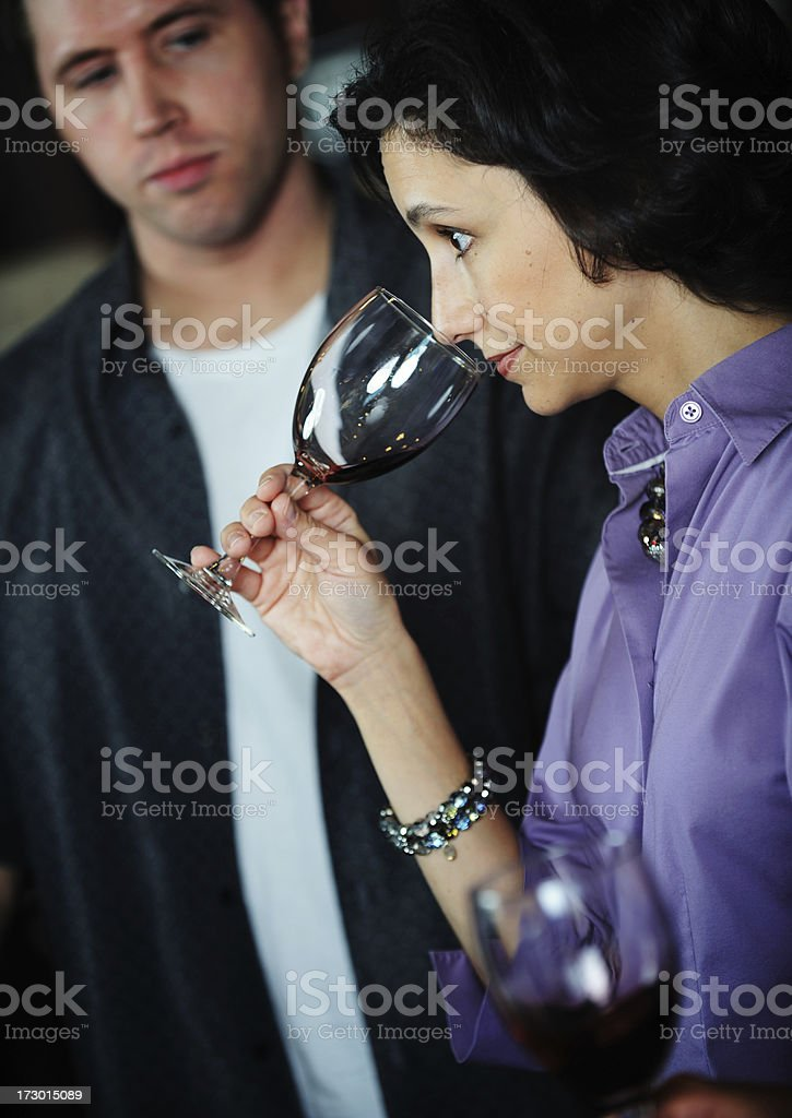Wine Tasting Series royalty-free stock photo