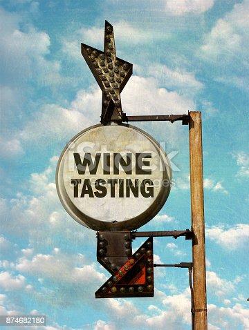 istock wine tasting sign 874682180
