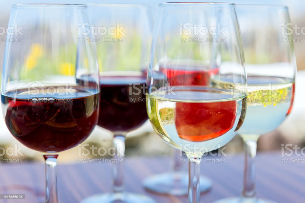 Wine tasting - winery stock photo
