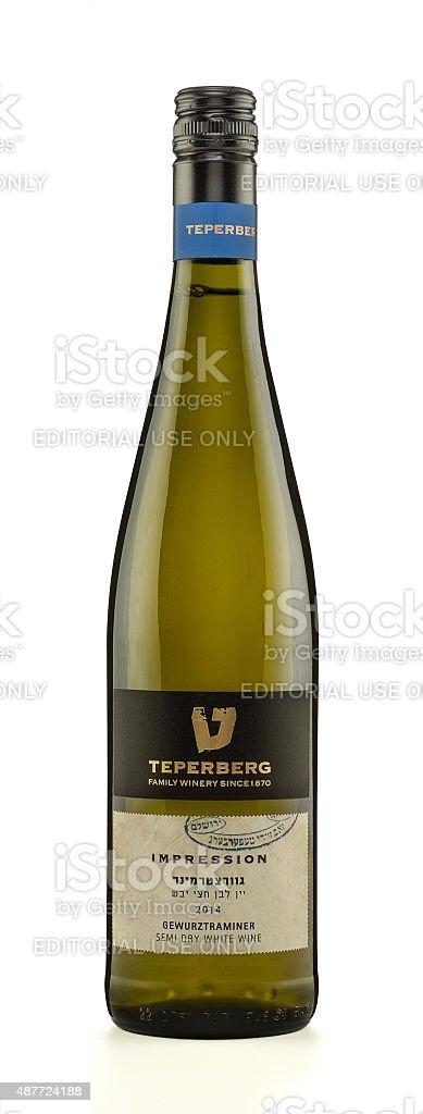 Wine Teperberg Impression Gewurztraminer 2014 stock photo
