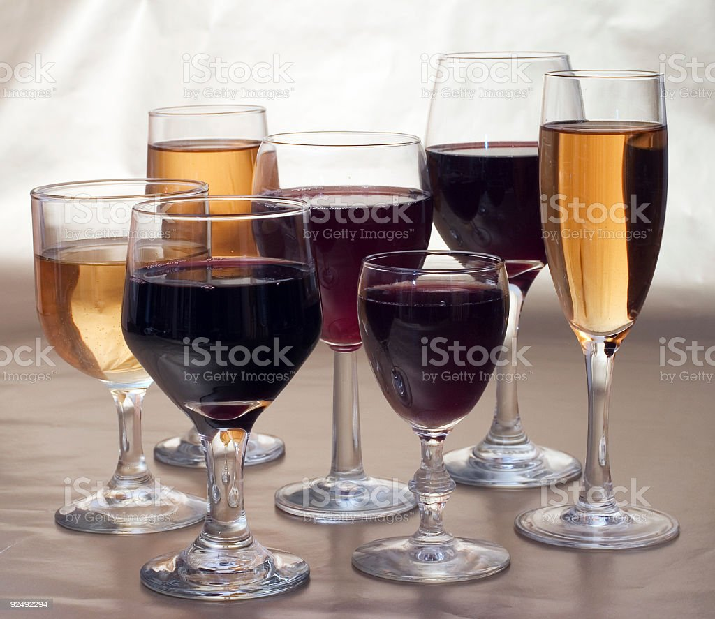 Wine Time royalty-free stock photo