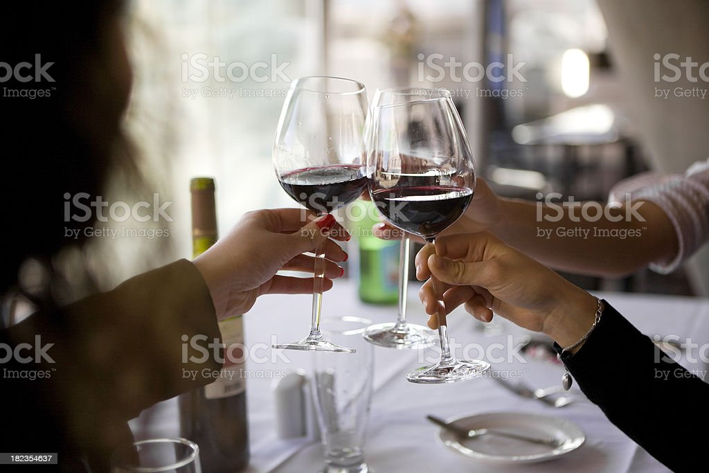 Wine toast royalty-free stock photo