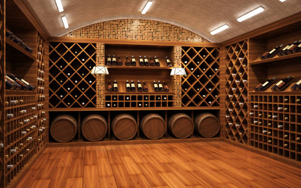 Wine vault Modern wine vault wine cellar stock pictures, royalty-free photos & images