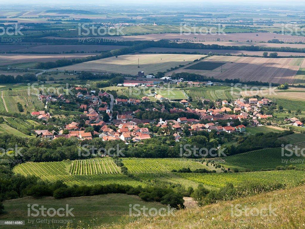 , wine village Bavory stock photo