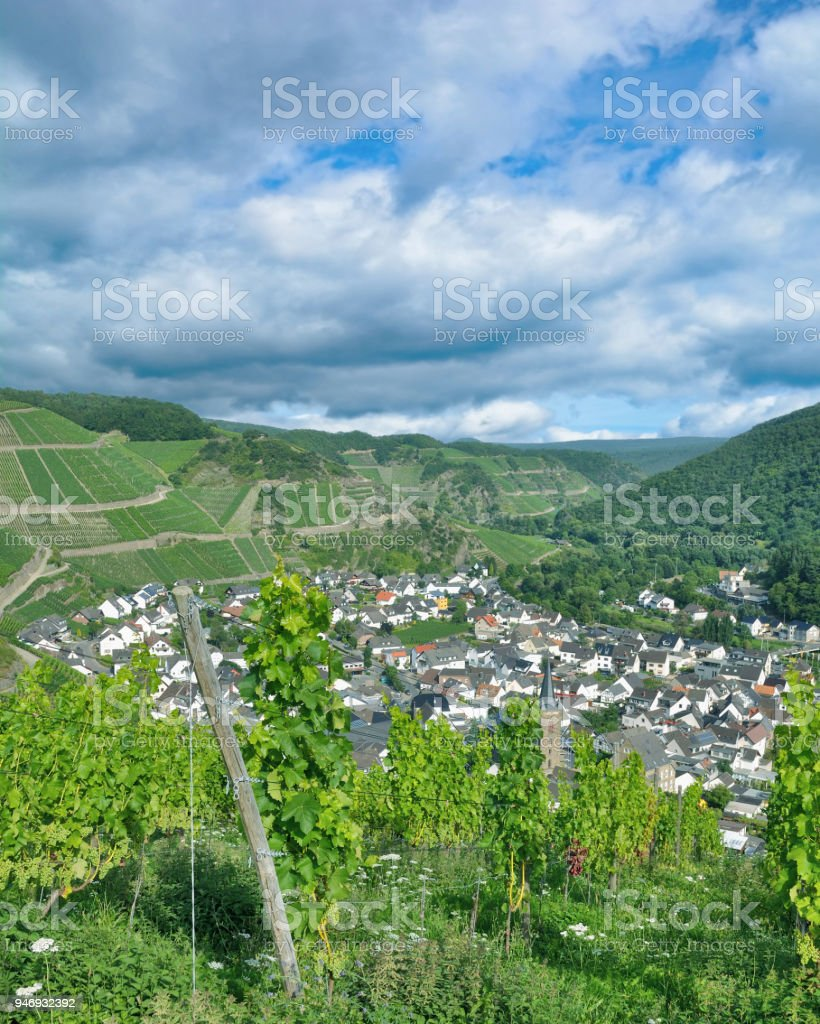 Wine Village of Dernau,Ahr Valley,Rhineland-Palatinate,Germany stock photo