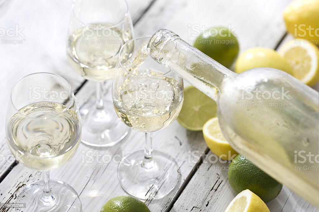 Wine with Citrus Flavour stock photo