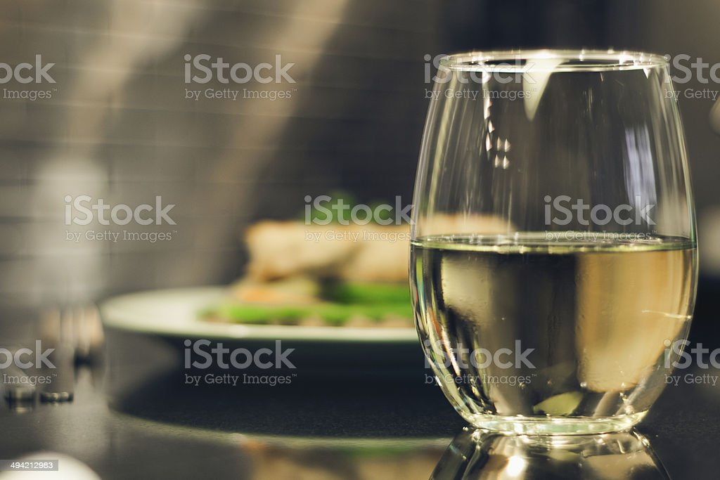 Wine with dinner royalty-free stock photo